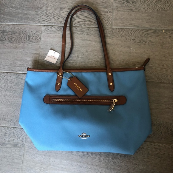 Coach Handbags - Brand new light blue Coach tote bag (with tags)